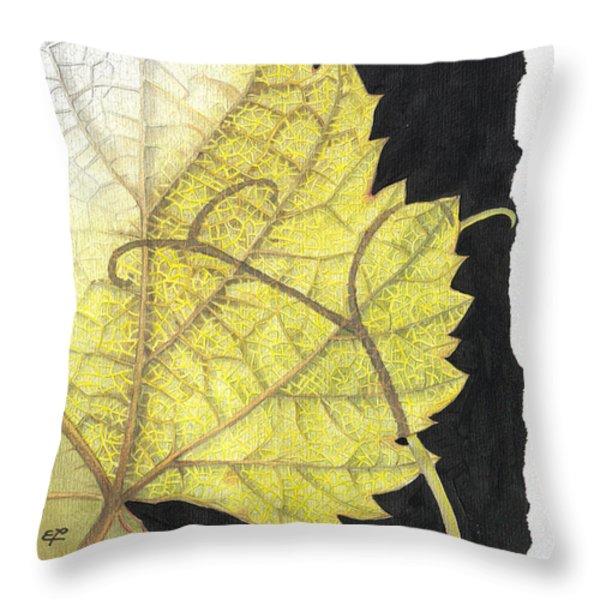 Leaf Throw Pillow by Elena Yakubovich