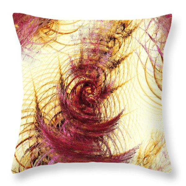 Leaves on a Water Throw Pillow by Anastasiya Malakhova