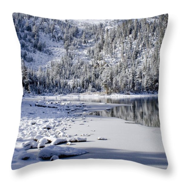 Looking Over Mcleod Throw Pillow by Chris Brannen