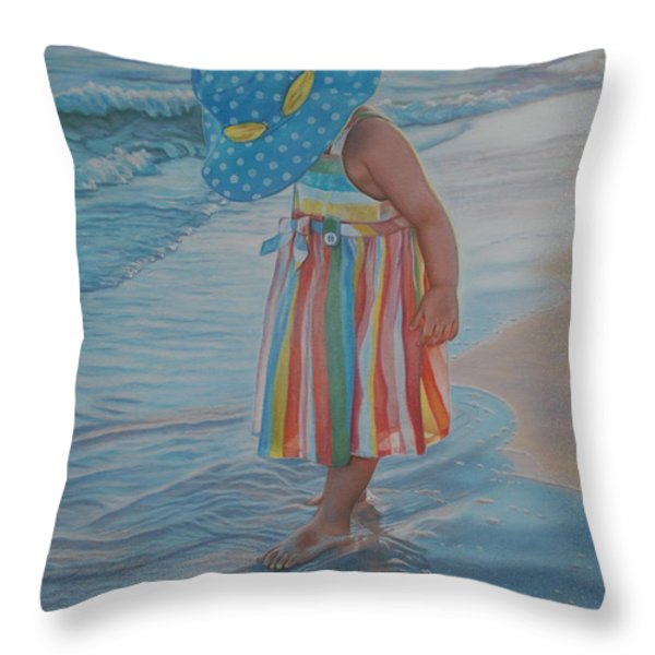Love Comes In Many Colors Throw Pillow by Holly Kallie