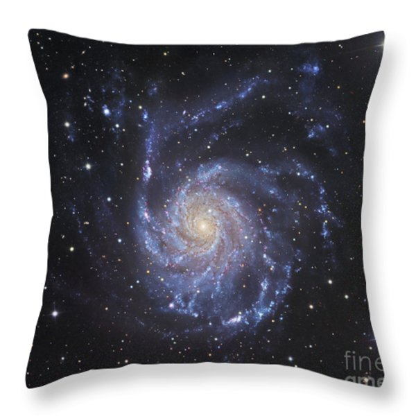 M101, The Pinwheel Galaxy In Ursa Major Throw Pillow by Robert Gendler