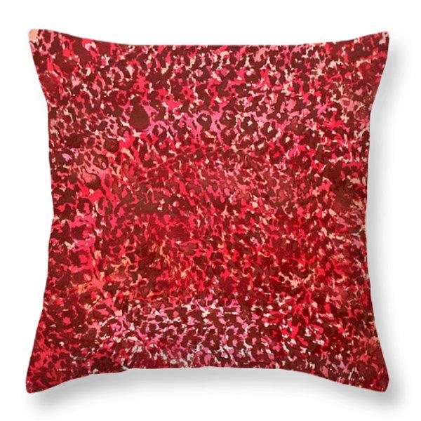 Mandala Sun Original Painting Throw Pillow by Sol Luckman