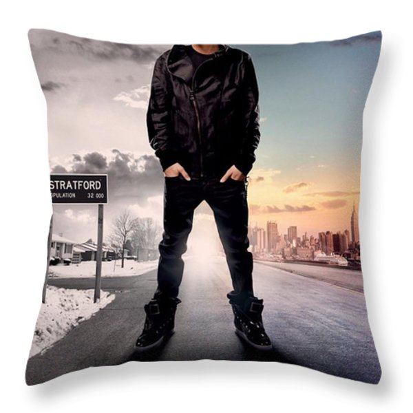 Never Say Never 1 Throw Pillow by Movie Poster Prints