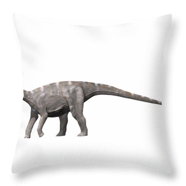 Nigersaurus Taqueti, Early Cretaceous Throw Pillow by Nobumichi Tamura