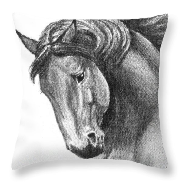 Noble Throw Pillow by Renee Forth-Fukumoto