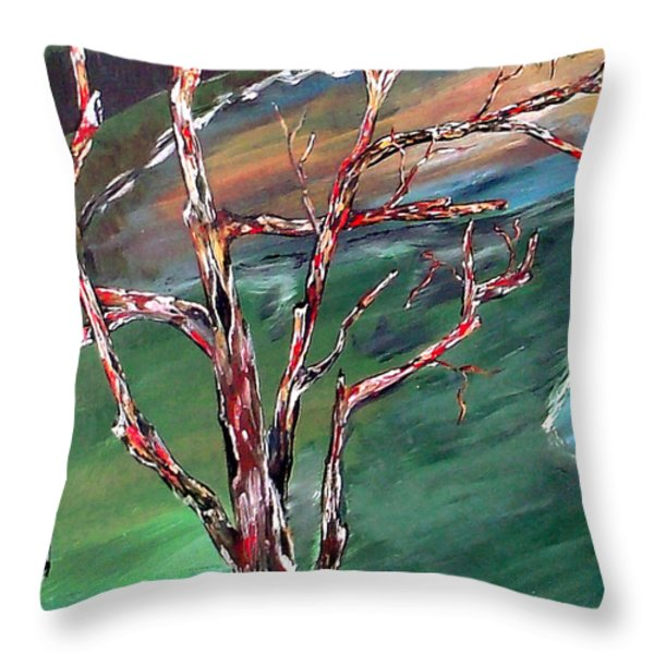 Nude In Nature Throw Pillow by Mark Moore