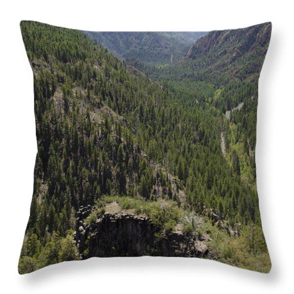 Oak Creek Canyon Overlook Throw Pillow by David Gordon