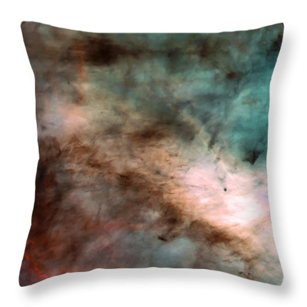 Omega Swan Nebula 1 Throw Pillow by The  Vault - Jennifer Rondinelli Reilly