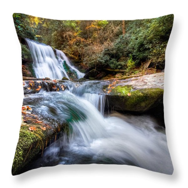 Parachuting Throw Pillow by Debra and Dave Vanderlaan