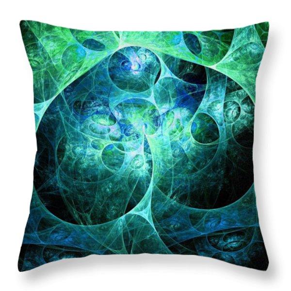 Phosphorescence Throw Pillow by Anastasiya Malakhova