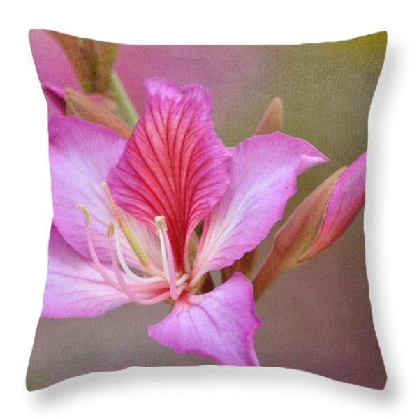 Pink Persuasion Throw Pillow by Fraida Gutovich