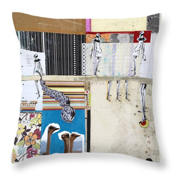 Pretty Little Things Throw Pillow by Michel Keck