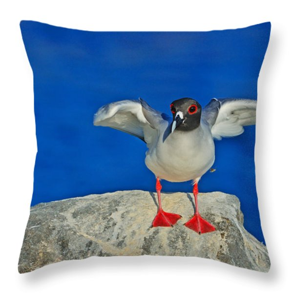 Red Eyes Throw Pillow by Tony Beck