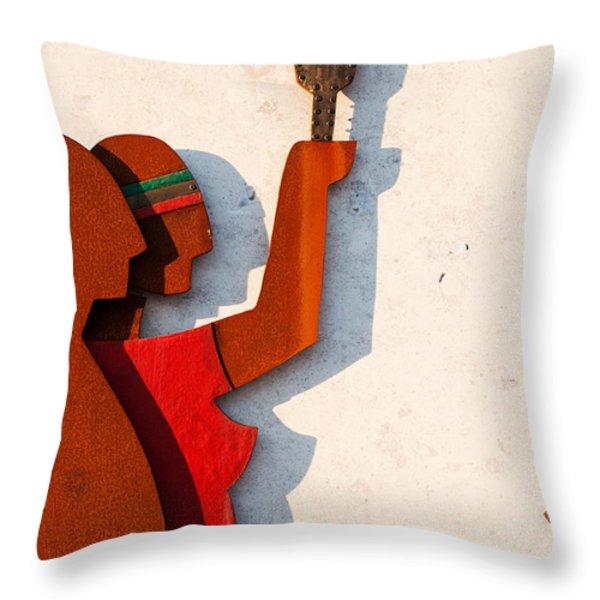 Republic Sculpture In Ourem Throw Pillow by Luis Alvarenga