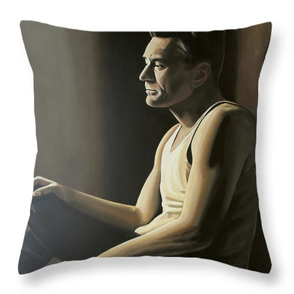 Robert De Niro Throw Pillow by Paul  Meijering