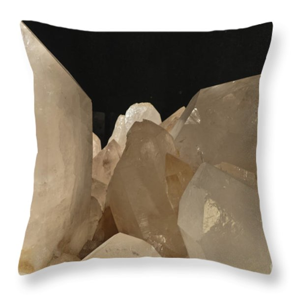 Rock Crystals Throw Pillow by Heiko Koehrer-Wagner
