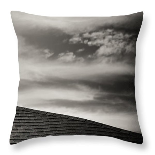 Rooftop Sky Throw Pillow by Darryl Dalton