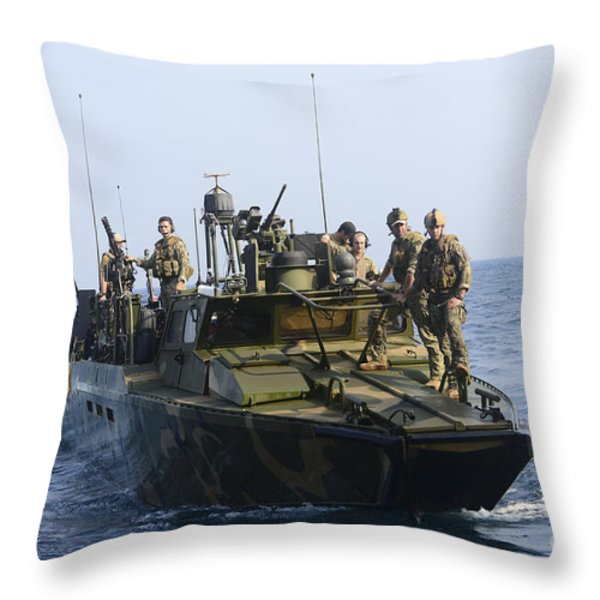 Sailors Conduct Patrol Operations Throw Pillow by Stocktrek Images