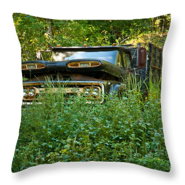 Sid's Old Truck Throw Pillow by Lena Wilhite