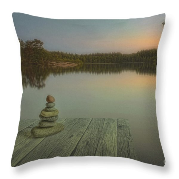 Silence Of The Wilderness Throw Pillow by Veikko Suikkanen