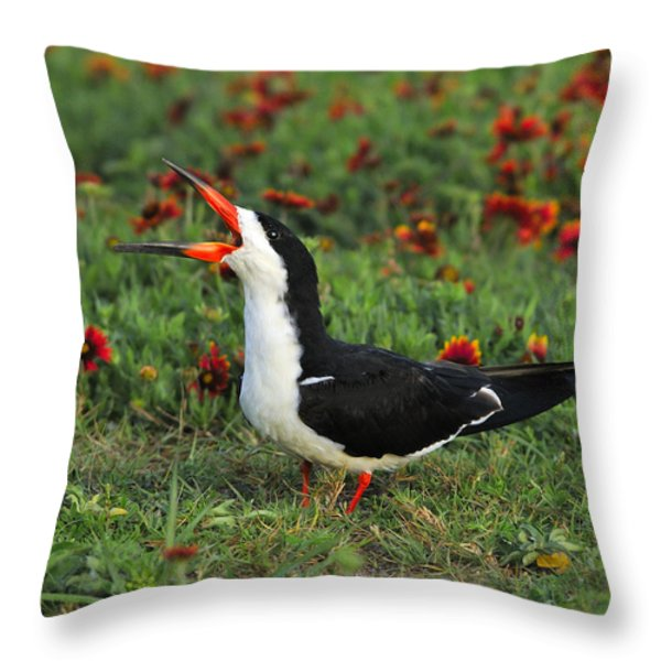 Skimming Through The Garden Throw Pillow by Tony Beck