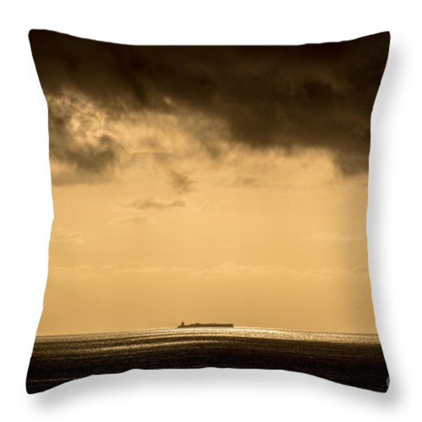 Steaming Thru The Sunrise Throw Pillow by Rene Triay Photography