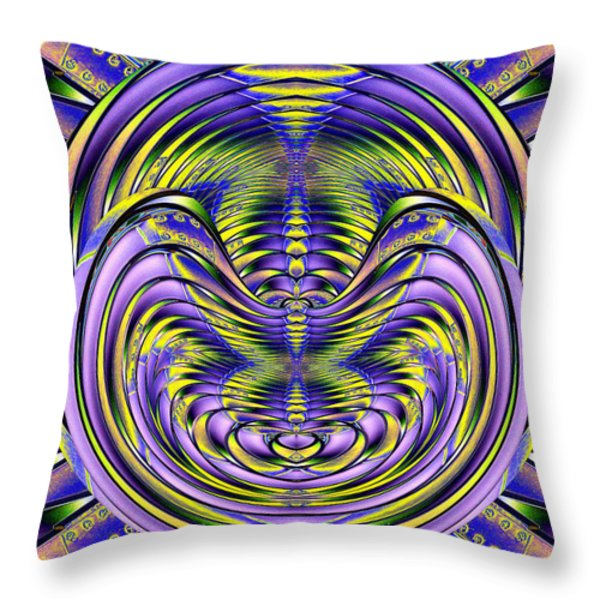 Steel Cheshire Throw Pillow by Tim Allen