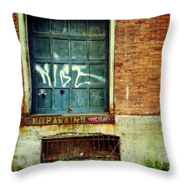 Strip District Doorway Number 1 Throw Pillow by Amy Cicconi