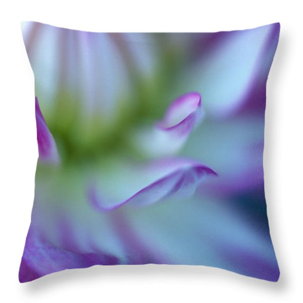 The Color Purple Throw Pillow by Kathy Yates
