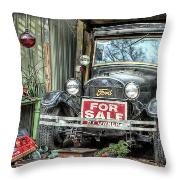 The Garage Sale Throw Pillow by JC Findley