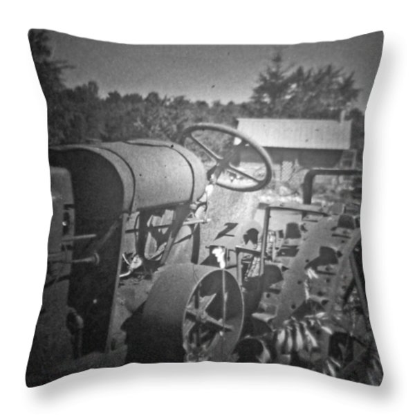 The Old Tractor Throw Pillow by Michael Allen