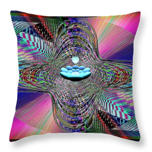 The Orb And The Bowl Throw Pillow by Tim Allen