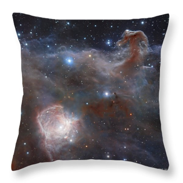 The Star-forming Region Ngc 2024 Throw Pillow by Robert Gendler