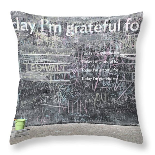 Today I'm Grateful For Throw Pillow by Jim Nelson