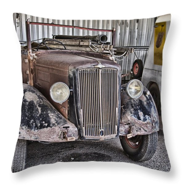 Vintage Morris Commercial Throw Pillow by Douglas Barnard