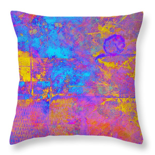 Chemiluminescence Throw Pillow by Christopher Gaston