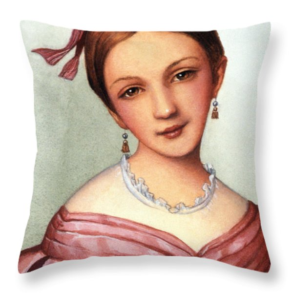 Clara Schumann (1819-1896) Throw Pillow by Granger
