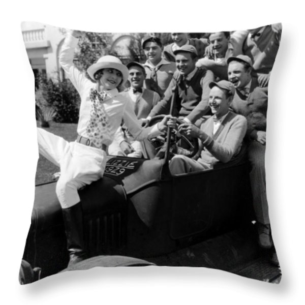 Silent Still: College Throw Pillow by Granger