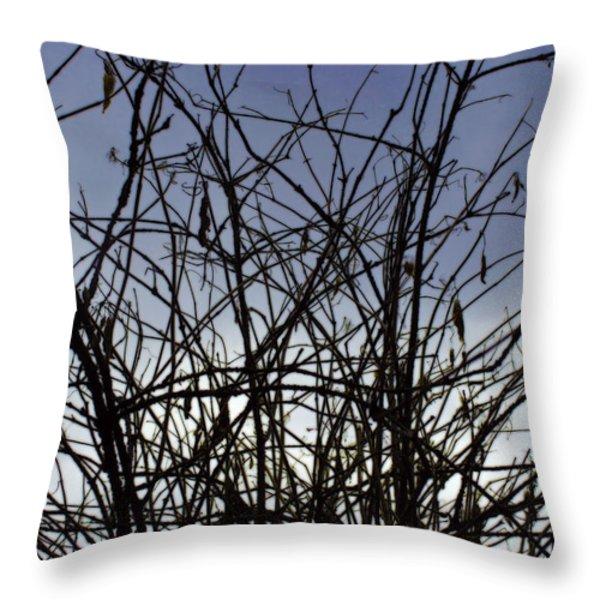 Yet To Spring Throw Pillow by Sumit Mehndiratta