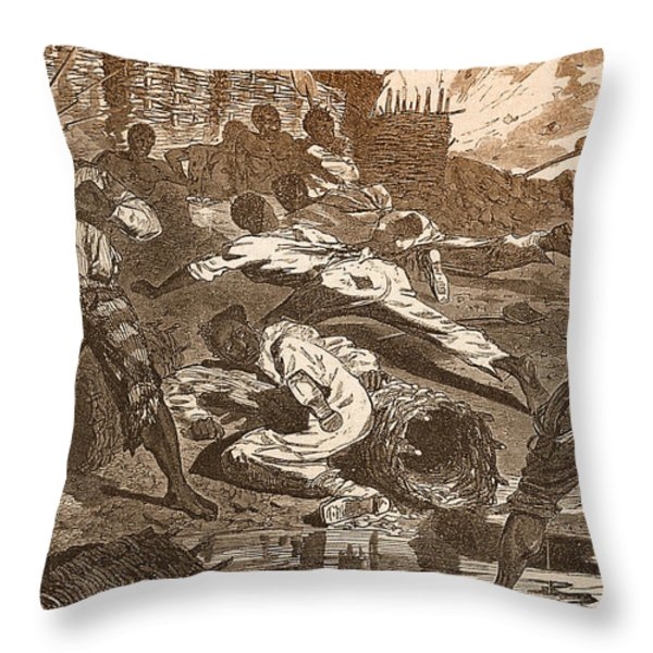 Siege Of Vicksburg, 1863 Throw Pillow by Photo Researchers