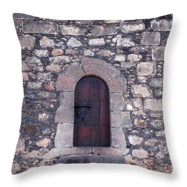 Castillo de San Gabriel at Arrecife Throw Pillow by Jouko Lehto