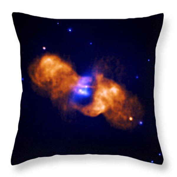 Galaxy Collision Throw Pillow by Nasa
