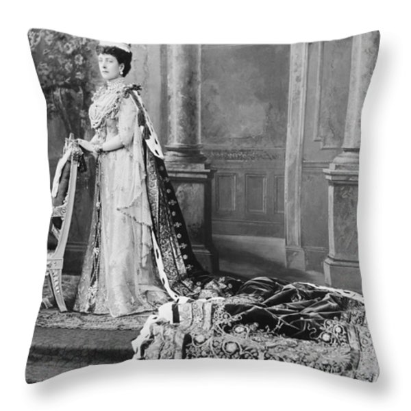 Queen Alexandra, 1902 Throw Pillow by Omikron