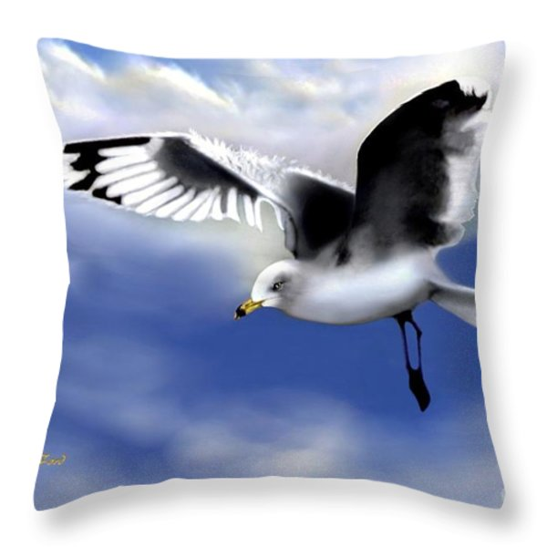 Ruffled Feathers Throw Pillow by Dale   Ford