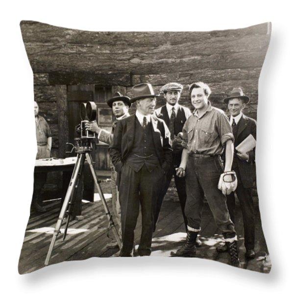 Silent Film Set, C1925 Throw Pillow by Granger