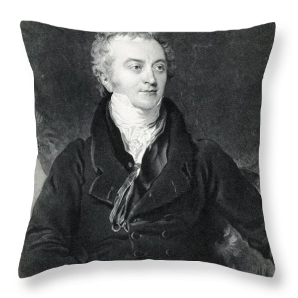 Thomas Young, English Polymath Throw Pillow by Photo Researchers