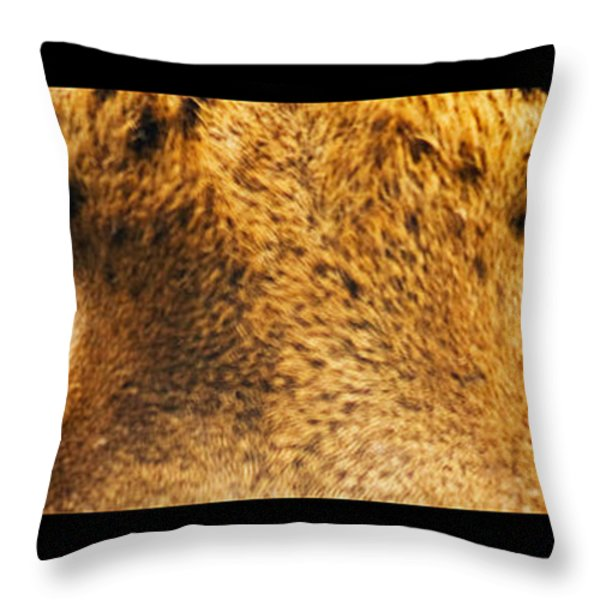 Tiger Eyes Throw Pillow by Sumit Mehndiratta