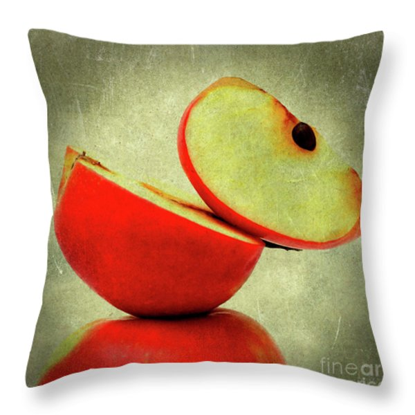 Apples Throw Pillow by Bernard Jaubert