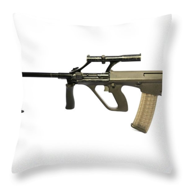 Austrian 5.56mm Steyr Aug Light Support Throw Pillow by Andrew Chittock