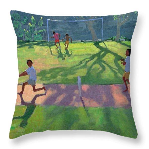 Cricket Sri Lanka Throw Pillow by Andrew Macara
